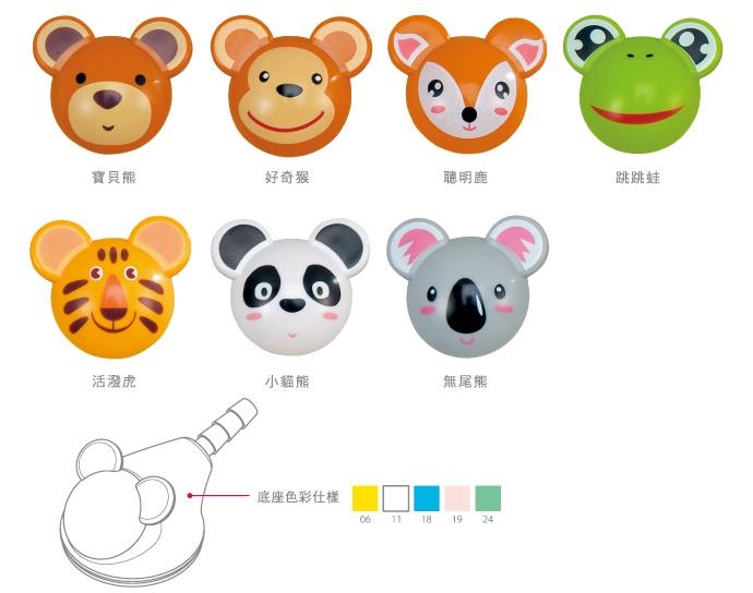 立体可爱动物造型单面听诊器